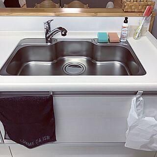 キッチン/キッチンリセット完了/きれいにしたい/水筒洗いブラシ/必要最低限...などのインテリア実例 - 2017-07-08 22:15:03