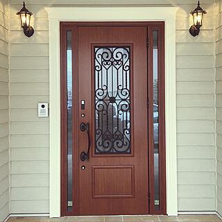 玄関/入り口/LIXIL/玄関ドア/輸入住宅/ラップサイディング...などのインテリア実例 - 2018-04-26 13:14:40
