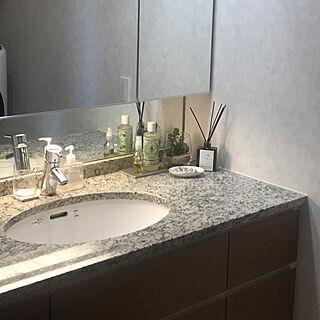 女性同棲1LDK、あるある洗面台に関するrekuさんの実例写真