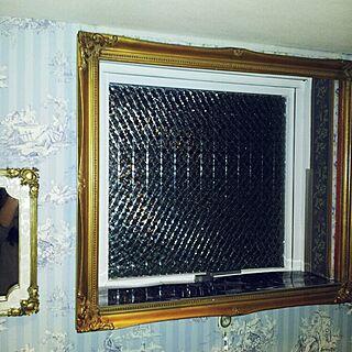 バス/トイレ/ウインドウフィルム/マスキングテープ/トイレ窓/アンティーク額縁の窓枠...などのインテリア実例 - 2015-03-22 00:10:02