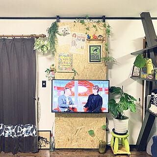 リビングの一角/ラブリコで壁掛けテレビ/ラブリコでDIY/ラブリコ/リノベーション...などのインテリア実例 - 2019-11-03 22:08:27