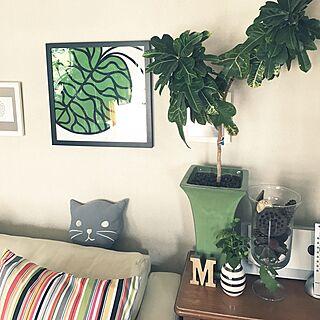 リビング/3COINS/猫との暮らし/壁まだ塗ってません/マリメッコ...などのインテリア実例 - 2017-03-29 11:27:01