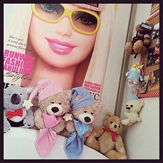 ベッド周り/ぬいぐるみ/barbie/くまのインテリア実例 - 2015-03-16 11:55:06
