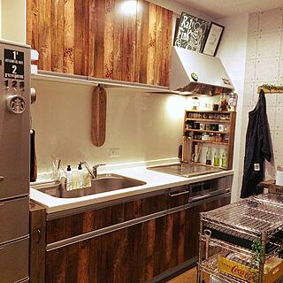 キッチン/メタルラック/チョークで落書き/スパイスラック/DIY...などのインテリア実例 - 2017-11-14 11:51:07