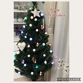 リビング/ニトリクリスマスツリー/クリスマス/クリスマス大好き❤︎/好きなもの♡...などのインテリア実例 - 2017-12-18 16:46:09
