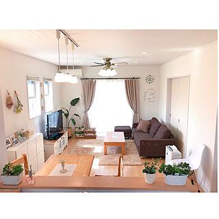 リビング/狭いリビングダイニング/緑のある暮らし/観葉植物/キッチンカウンターからの眺め...などのインテリア実例 - 2018-04-16 10:03:03