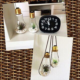 女性家族暮らし4LDK、電球瓶を吊るしてみたに関するtekkmmさんの実例写真