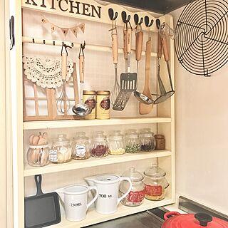 キッチン/計量カップ/瓶/ダルトン/DIY棚...などのインテリア実例 - 2017-03-30 17:39:42