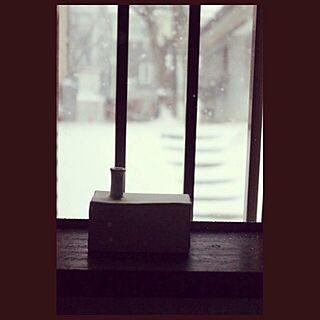 バス/トイレ/やきもの/いちりんざし/一点もの/雪の日...などのインテリア実例 - 2015-02-12 10:28:45