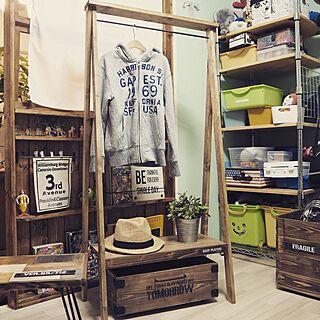 ベッド周り/ハンガーラック/模様替え/DIY/木工...などのインテリア実例 - 2016-09-13 22:28:13