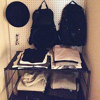 男性一人暮らし1R、洋服棚に関するharu0829さんの実例写真