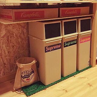 キッチン/Supreme/空き箱/セリア/ステッカー...などのインテリア実例 - 2016-01-16 21:36:27