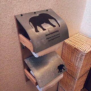 バス/トイレ/手作り/DIY/廃材DIY/セリア リメイク...などのインテリア実例 - 2015-07-06 16:55:56