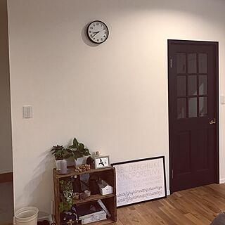 壁/天井/時計/ジョリパッド/木製ドア/りんご箱...などのインテリア実例 - 2017-05-17 20:41:41