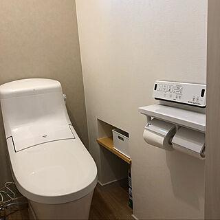 階段下スペース/収納/トイレの収納/アクセントクロス/バス/トイレのインテリア実例 - 2020-03-26 16:55:19