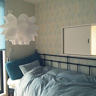 女性41歳の家族暮らし3LDK、黒いベッドに関するKuronecoさんの実例写真
