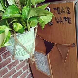 キッチン/ガーランド/観葉植物/百均リメイク/手作り...などのインテリア実例 - 2016-05-13 22:00:21