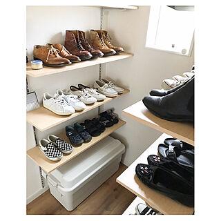 靴収納/Tricker's/無印良品/シューズクローゼット収納/シューズクローゼット...などのインテリア実例 - 2020-02-08 18:54:45
