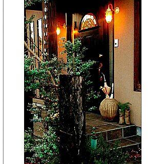 玄関/入り口/店舗付き住宅*店舗用出入口/枕木/ウエスタンブーツ/リノベーション/ドア*ネットで購入のインテリア実例 - 2014-04-11 22:09:40