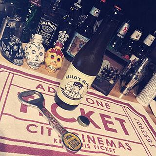 キッチン/ビール好き♥/ビール瓶集めてます。/RCの出会いに感謝♥︎/いいね♪本当に感謝です♥...などのインテリア実例 - 2018-03-01 22:23:49