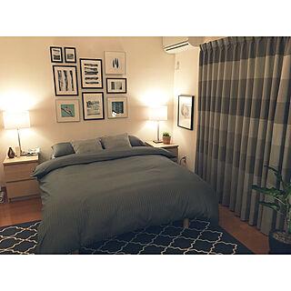 ベッド周り/IKEA/間接照明/シンプルモダン/アートフレーム...などのインテリア実例 - 2018-03-18 20:09:45
