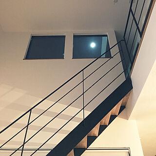 部屋全体/シースルー階段/アイアン階段/吹き抜け/コの字の家...などのインテリア実例 - 2018-10-22 23:03:56