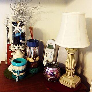 棚/バングルの塔♡/ターコイズブルー&ホワイト/アンティーク/雑貨...などのインテリア実例 - 2014-03-20 10:30:16