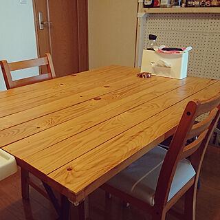 机/テーブル/イケアのテーブル脚/天板DIY/捨てられない...などのインテリア実例 - 2019-06-26 12:01:14