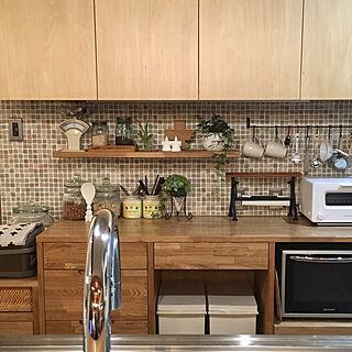 キッチン/KOTOSの家/グリーンのある暮らし/大人ナチュラル/観葉植物...などのインテリア実例 - 2017-07-22 21:00:54