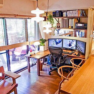 男性一人暮らし3LDK、スパニッシュチェアに関するShunsukeさんの実例写真