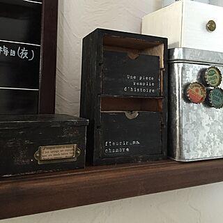 リビング/lovelyzakkaさんを参考に♡/アクリル絵の具でペイント/木箱/セリア...などのインテリア実例 - 2015-03-02 13:36:27