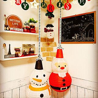 リビング/提灯/クリスマス/クリスマス飾り/黒板ペイント...などのインテリア実例 - 2017-11-04 17:36:11