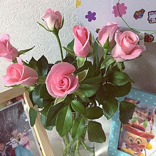 女性63歳の家族暮らし4LDK、バラに関するtakakoさんの実例写真