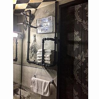 バス/トイレ/飾るように暮らす/クリエイティブをマインドに/賃貸/ウォールシェルフ...などのインテリア実例 - 2017-09-21 01:43:03