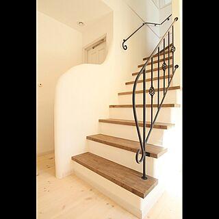階段 925 塗り壁 のインテリア実例