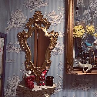 バス/トイレ/ミラーシェルフ/フランスアンティーク/猫フィギュリン/クリスマスブーツ...などのインテリア実例 - 2017-12-10 23:09:40