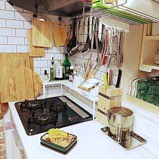 キッチン/カッテングボード/ナイフスタンド/天ぷら鍋/IKEA...などのインテリア実例 - 2020-03-09 07:11:44