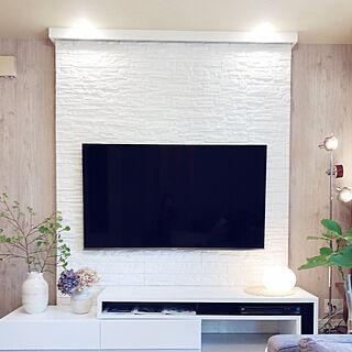 ラコルト/ダウンライト 調光 LED/石目調クッションシート/壁作りました/ホワイト化計画...などのインテリア実例 - 2019-03-25 09:31:08