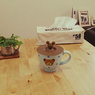 女性家族暮らし2LDK、マグカップのふたに関するBuBuさんの実例写真