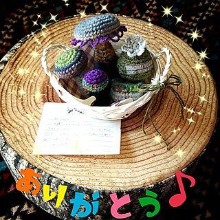 女性44歳の家族暮らし3LDK、Norikoちゃん編み編みキノコに関するabiさんの実例写真