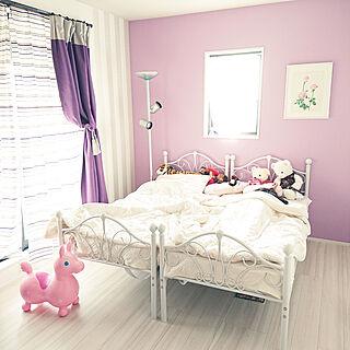 ベッド周り/ボタニカルアート/築40年/子供と暮らす。/ベッド...などのインテリア実例 - 2019-10-12 09:37:16