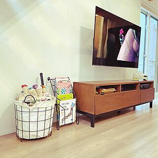 テレビボード/テレビ台/ランドリーバスケット/おもちゃ収納/北海道の家...などのインテリア実例 - 2021-05-28 22:23:21