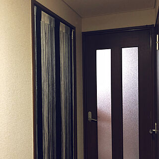 女性27歳の家族暮らし2LDK、のれんに関するchikapiさんの実例写真
