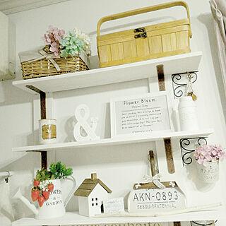 女性家族暮らし、飾り棚に関するmaiyukapiさんの実例写真