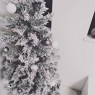 壁/天井/クリスマスツリー/スノーツリー/ホワイトインテリア/シンプルインテリア...などのインテリア実例 - 2018-12-24 11:50:43