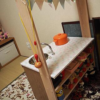女性31歳の家族暮らし3LDK、ままごとキッチンに関するmaruさんの実例写真