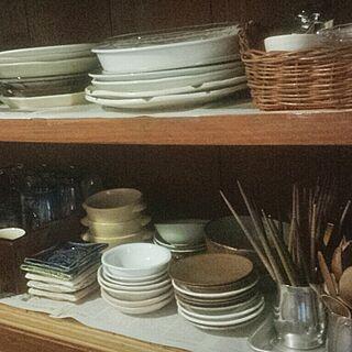 キッチン/古い道具/古道具♪/古家具/食器棚の中...などのインテリア実例 - 2014-04-25 18:15:53