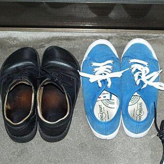 男性32歳のシェア1DK、革靴に関するKazumaさんの実例写真