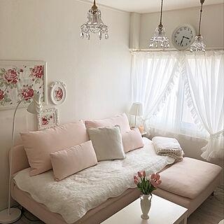チューリップ/ピンクのソファ/IKEA SÖDERHAMN/私の部屋/部屋全体...などのインテリア実例 - 2020-03-09 20:12:47
