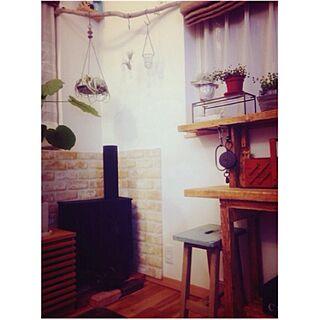 部屋全体/暖炉型収納/10円脚の椅子/おはようございます(´◡͐`)/滑車...などのインテリア実例 - 2013-12-05 06:52:44